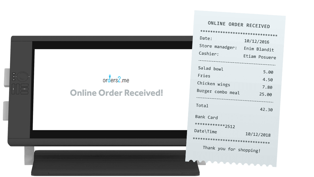 on line ordering system