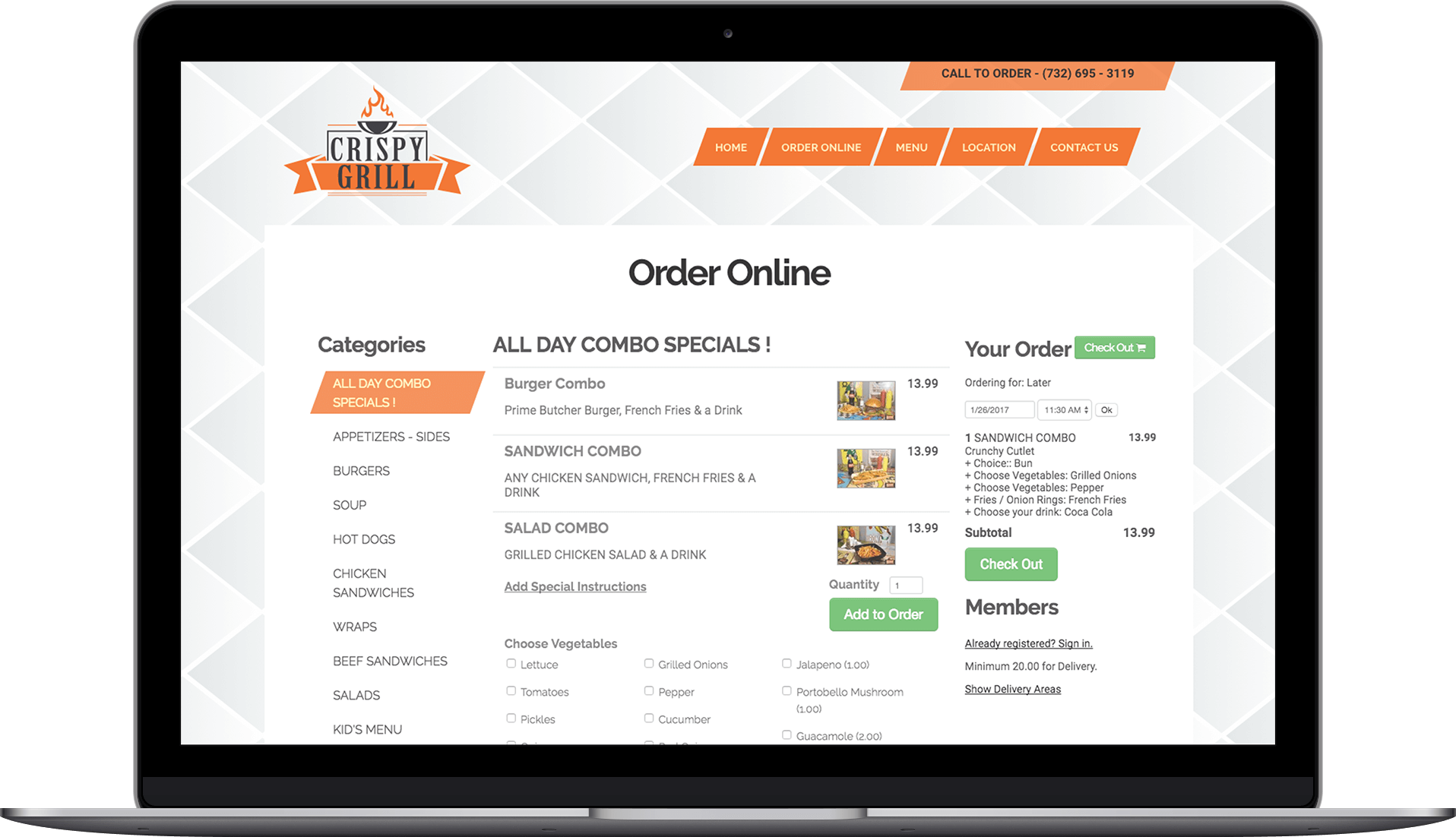 Online ordering system and website design for restaurants | Orders2me