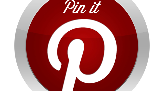 Pinterest button with the text pin it - red button