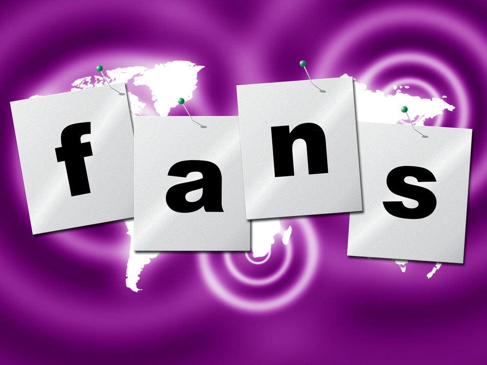 Online Fans Showing World Wide Web And Social Media