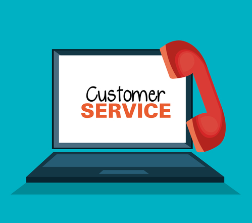 customer service online icon vector illustration design