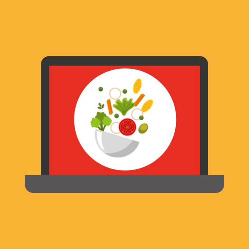 shopping online concept order healthy food vector illustration eps 10