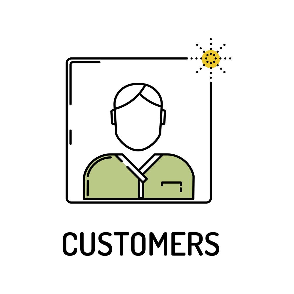 CUSTOMERS Line icon