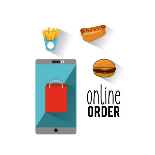 restaurant menu online order vector illustration design